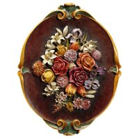 Relief flowers - Colored - 12 x9½ inch