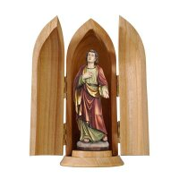 St. John under the cross in niche