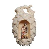 Swiss pine cones with Holy Night crib