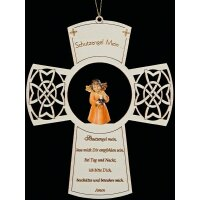 Cross with prayer +Light Angels candle