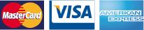 Mastercard, Visa, Ameircan Express
